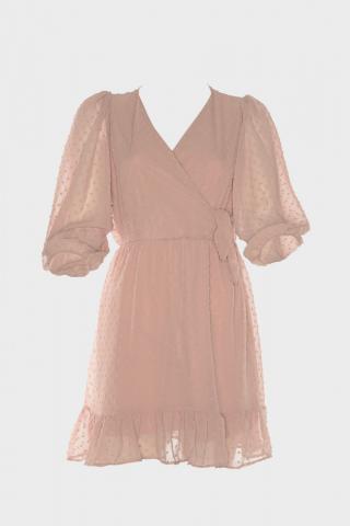 Trendyol Rose Dry Textured Fabric Anvelop Dress dámské 40