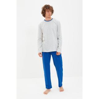 Trendyol Sax Men Regular Fit Striped Pajamas Set pánské Other S