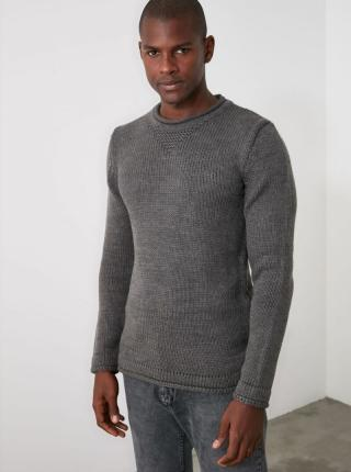 Trendyol sivé pánsky sveter - S pánské sivá S