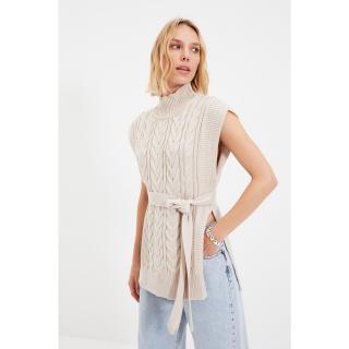Trendyol Stone Belt Detailed Knitwear Sweater dámské Other S
