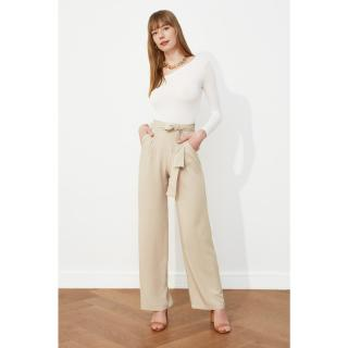 Trendyol Stone Belt Pants dámské 34