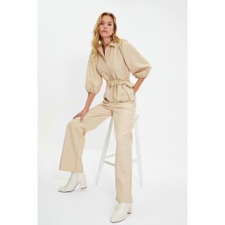 Trendyol Stone Belted Jumpsuit dámské Other 34