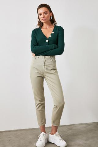 Trendyol Stone High Waist Mom Jeans dámské 34