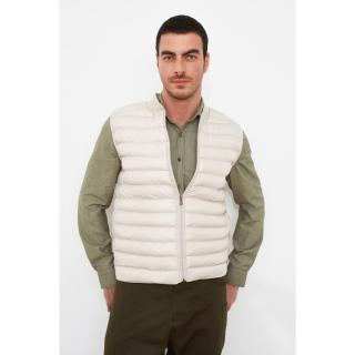 Trendyol Stone Mens Zipper Vest pánské S
