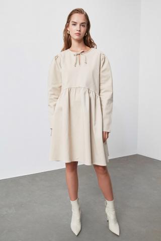 Trendyol Stone Wide Cut Dress dámské 38