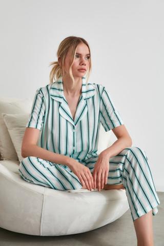 Trendyol Striped Knitted Pyjamas Set dámské Multi M