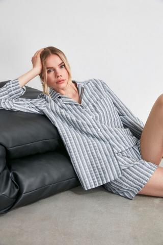 Trendyol Striped Woven Pyjama Set dámské Multi 34