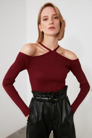 Trendyol Sweater with Burgundy Shoulder DetailING dámské S
