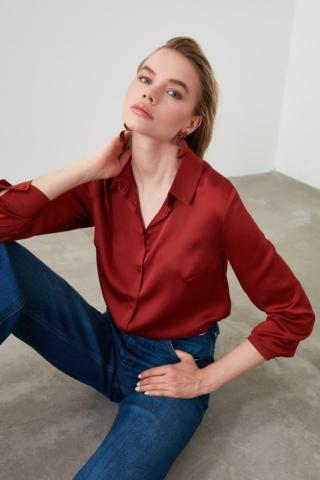 Trendyol Tandumatic Basic Shirt dámské TİLE 34