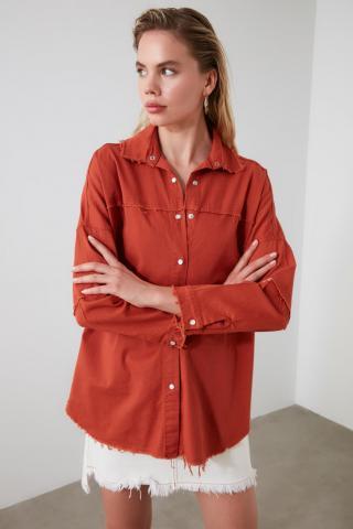 Trendyol Tdare Basic Shirt dámské TİLE 34
