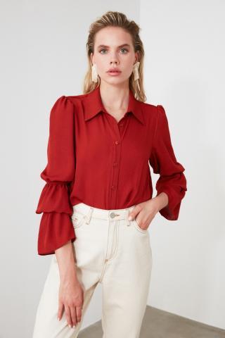 Trendyol Tdare Sleeve Detailed Shirt dámské TİLE 34