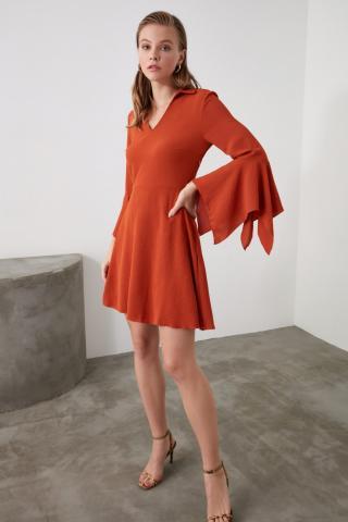 Trendyol TdareD Sleeve Detailed Dress dámské TİLE 34