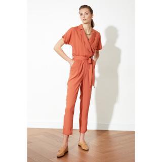 Trendyol Tile Belt Jumpsuit dámské 34