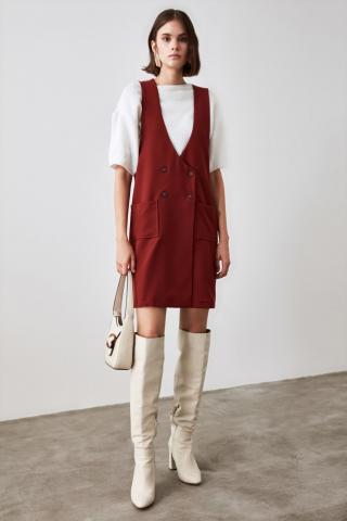 Trendyol Tile Button Detailed Jile Dress dámské 34