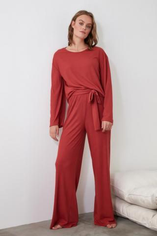 Trendyol Tile Knitted Pajama Set dámské XS