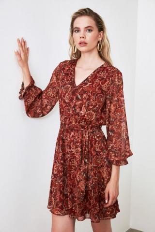 Trendyol Tinmel Waist Ruffle Dress dámské TİLE 34
