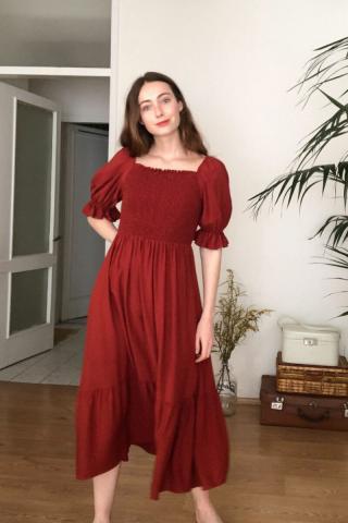 Trendyol Tukit Gipeli Dress dámské TİLE 42