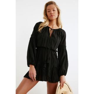 Trendyol Vual Beach Dress with Black TasselS dámské 34