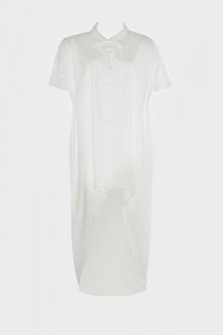 Trendyol White Asymmetric Shirt dámské 38