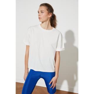 Trendyol White Back Basque Sports T-Shirt dámské S