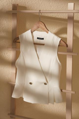 Trendyol White Cruise Sleeveless Blouse dámské 34
