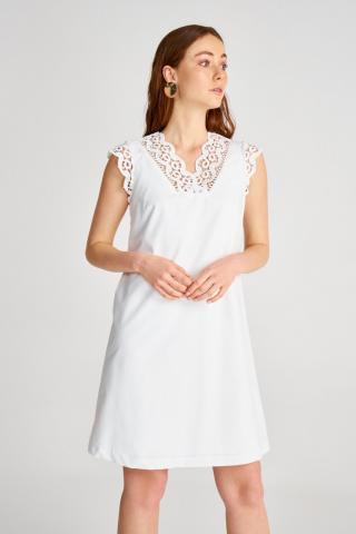Trendyol White Lace Detailed Dress dámské 34