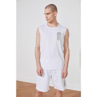 Trendyol White Male Oversize Fit Zero Arm Athlete S