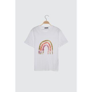 Trendyol White Male Regular Fit T-Shirt S