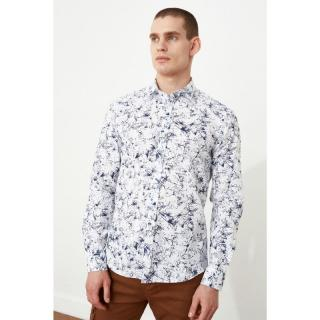 Trendyol White Male Slim Fit Shirt S