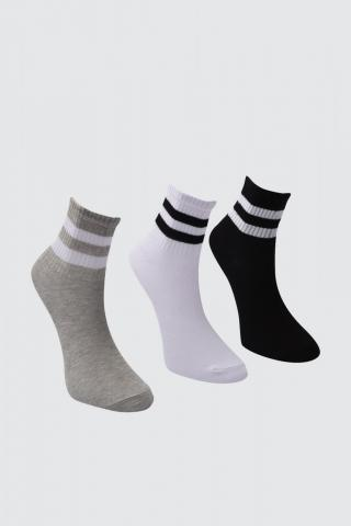 Trendyol White Ribbon Detailed 3 Pack Knitted Socks dámské One size