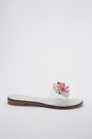 Trendyol White Transparent Detailed Stony Womens Slippertaks20TE0030 dámské 36