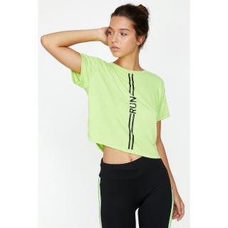 Trendyol Womens Green T-Shirt dámské Yeşil L
