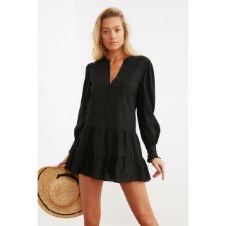Trendyol Woven Beach Dress with Black Cuff Detail dámské 34