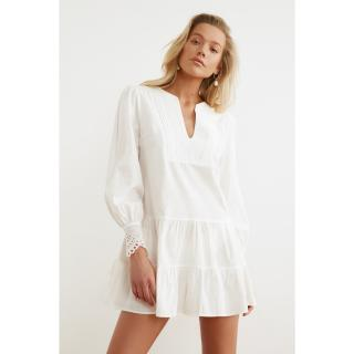 Trendyol Woven Beach Dress with White Cuff Detail dámské 36