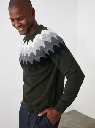 Trendyol zelené pánsky sveter - XL pánské zelená XL