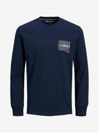 Tričká s dlhým rukávom pre mužov Jack & Jones - modrá pánské S