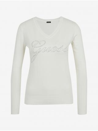 Tričká s dlhým rukávom pre ženy Guess - biela dámské XS