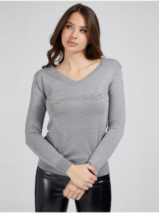 Tričká s dlhým rukávom pre ženy Guess - sivá dámské XS