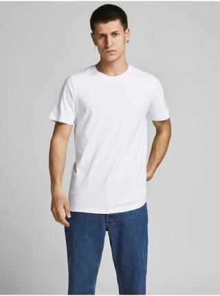 Tričká s krátkym rukávom pre mužov Jack & Jones - biela pánské S