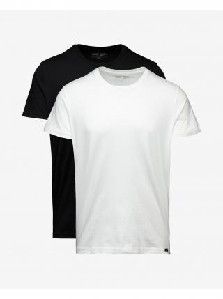 Tričká s krátkym rukávom pre mužov Lee - čierna, biela pánské L