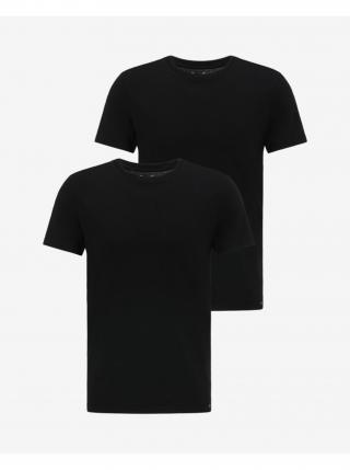 Tričká s krátkym rukávom pre mužov Lee - čierna pánské L