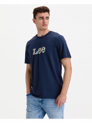 Tričká s krátkym rukávom pre mužov Lee - modrá pánské L