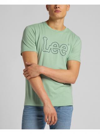Tričká s krátkym rukávom pre mužov Lee - zelená pánské L