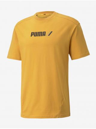 Tričká s krátkym rukávom pre mužov Puma - žltá pánské L