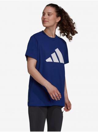 Tričká s krátkym rukávom pre ženy adidas Performance - modrá dámské XS