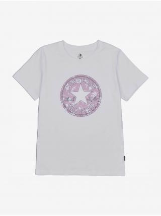 Tričká s krátkym rukávom pre ženy Converse - biela dámské L