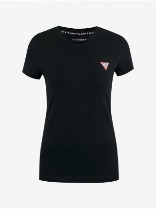 Tričká s krátkym rukávom pre ženy Guess - čierna dámské XS