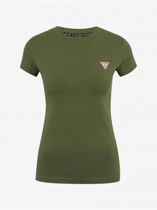Tričká s krátkym rukávom pre ženy Guess - zelená dámské XS