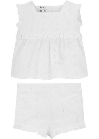Tričko a cyklistické nohavice  dámské biela 56,62,68,74,80,86,92,98