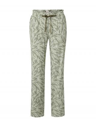 TRIUMPH Pyžamové nohavice  zelená / biela / olivová dámské XXL